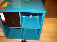 Isaiah cube shelving blu